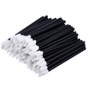 Lalang 50pcs Disposable Lip Brushes Lipstick Gloss Wands Applicator Makeup Tool Kits, Black