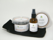 Nuts Organic - Moroccan Hammam Gift Set (01) - Black soap with argan oil, argan oil, ghassoul clay & kessa glove