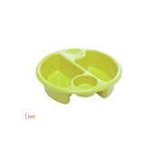 Neat Nursery Top 'n' Tail Circular Wash Bowl in Lime