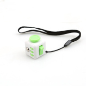 Mini Stress Cube Fidget Toy - White/Green