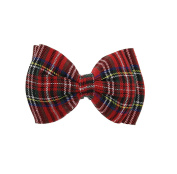 Zac's Alter Ego® Large Red Tartan Double Bow On Barrette