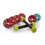 Zumba Fitness Total-Body Cardio System with 6 DVDs, Nutrition Guide and Toning Sticks