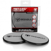Gliding Discs (1 Pair Core Sliders) - Full Body Workout Video Included - Dual Sided Sliding Discs for Use on Carpet or Hardwood Floors - Great for Full Body Workout, CrossFit, Cross Training