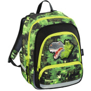 Baggy Max Speedy Green Dino Size School Backpack
