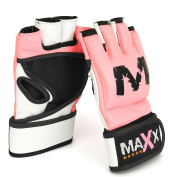 Max Ladies pink UFC Grappling Gloves MMA,Boxing,Cage - medium