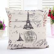 Modern linen Throw Pillow Cases Cushion Cover Paris Effiel Tower 46cm