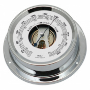 Fischer maritime barometer, made from chrome-plated brass, 125 mm