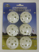 On Course Perforated Practise Golf Balls (6pk) Plastic Wiffle Ball NEW