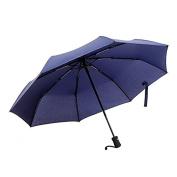 Ohuhu Auto Travel Umbrellas, Windproof, Auto Open and Close, Compact, Blue