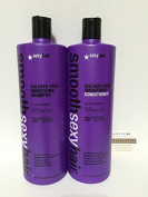 Sexy Hair Smooth Sexy Hair Sulphate Free Smoothing Shampoo and Condtioner Duo Litre