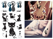 Supperb Temporary Tattoos - Lover Cats, Sexy Cats