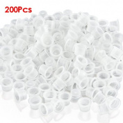 TOOGOO(R) 200 Plastic Medium Tattoo Ink Cups Caps Holder Supplies