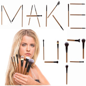 22pc Professional Makeup Brush Kit - iLuminate Essentials with Usage Guide, Rose Gold,