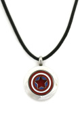 Captain America Boys/ Mens 316L Stainless Steel Essential Oil Diffuser Necklace- 46cm - 50cm