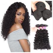 Cheap 8A Brazilian Virgin Hair Weave Natural Black Deep Wave Human Hair 3 Bundles Deep Curly JiSheng Unprocessed 100% Brazilian Human Hair Weave Extensions