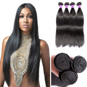Peruvian 100% Virgin Human Hair Weave Natural Black Straight Hair 3 Bundles JiSheng Peruvian 7A Grade Unprocessed Virgin Hair bundles Remy Hair Extensions