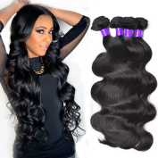 Shining Star Brazilian Virgin Hair Body Wave 3 pcs/lot Human Hair Bundles Natural Colour