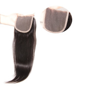 Nadula Brazilian Silky Straight Hair 4×10cm Lace Closure Free Part Remy 7a Human Hair Extensions Natural Colour