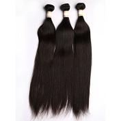 Virgin Indian Hair Extension 3 Bundles 46cm Natural Straight Human Hair Weaves 300 Grammes
