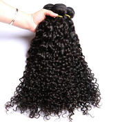 Unprocessed Indian Hair Deep Curl Virgin Indian Human Hair Weaving Extensions 300g 3 Bundles 50cm Curly Hair