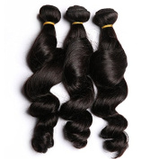 Loose Wave Indian Hair Virgin Unprocessed Hair Extensions 3 Bundles 60cm Full Head Sheds Free