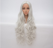 80cm Cosplay Wig Halloween Women Long Curly Synthetic Hair No Bangs