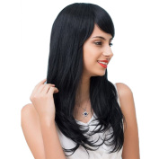 Styler Long Texture Human Hair Wig mixed Synthetic Fibre Paula Wig for Women