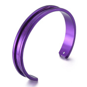 New Fashion Hair Ties Bracelets Grooved Cuff Bangles For Women Girls - 10 Colours
