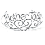 Deco4Fun Sparkling Mother To Be Tiara - Metal with Rhinestones - New Expecting Mom Shiny Crown Accessory Gift for Baby Shower, Mommy Party, Baby Sprinkle, Gender Reveal Party