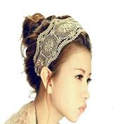 CAETLE® Lovely Lace Sweet Lady Hollow leaf Flower Elastic Hair Band Headband