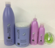 Kuz colour maintenance Shampoo 1000ml, Mask 1000ml, Leave-in Conditioner,Gloss and Brush Bundle.