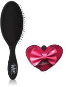 Wet Brush Pro Blackout Brush + Madison K. Small Pink Accessory Bow