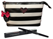 Smashbox Always Sharp Waterproof Eye Liner Raven + Madison K. Makeup Clutch