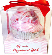 Peppermint Bark Large Cupcake Bath Bomb
