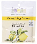 Aura Cacia Energising Lemon Mineral Bath Packet, 70ml packet,