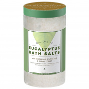 CalilyLife Organic Dead Sea Salt with Eucalyptus, 950ml – Luxurious and Therapeutic Bath Salt Soak – Rejuvenates, Relaxes and Soothes Mind and Body