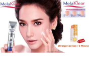 Melaklear Gluta 9000 Mg. SPF15 Expert Whitening Facial Day Cream 15 G. (Free Orange Lip Care : 2 Piece) Pack of 2