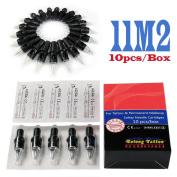 Solong Tattoo® Disposable Hawk Tattoo Needle Cartridges Double Stack Magnum (M2) 10pcs/Box EN03-11M2