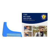 Debonair Duke Beard Shaping Tool & Comb for Shaving Perfect Lines & Symmetry for All Beard Styles & Grooming-Best Beard Trimmer for Jaw Line, Cheek, Neck, & Goatee-Makes Perfect Razor Trimming Lines