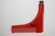 Kingston Grooming- Beard and Goatee Shaping Tool and Styling Template Comb with Travel Envelope