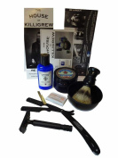 Straight Razor Shave Set by Cardinham Killigrew - starter straight razor Shaving gift with straight razor shave bowl shave kit unique mens gift
