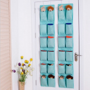 Ieasycan Organiser Wall Door Closet Hanging Storage Bag Organiser Multilayer Fabric Debris Storage Multifunctional Room Bedroom Bath Organiser Anti-mould / Anti-bacterial Space Saver Gift