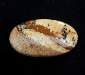 28.40Cts. Natural Designer Picture jasper oval shape 33x18x5 mm cabochon African gemstone 0786.