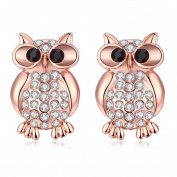 Hunputa New Womens Girls Fashion Jewellery Cute Owl Ear Stud Earrings