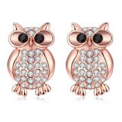 Hunputa New Womens Girls Fashion Jewellery Cute Owl Ear Stud Earrings