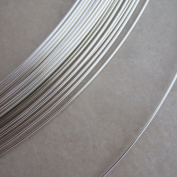 20 Gauge Half Hard Round Sterling Silver Wire 3m