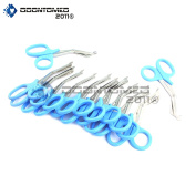 OdontoMed2011® 12 PCS PARAMEDIC UTILITY BANDAGE FIRST AID STAINLESS STEEL TRAUMA EMT EMS SHEARS SCISSORS 2.2m TEAL ODM