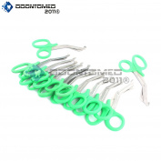 OdontoMed2011® 12 PCS PARAMEDIC UTILITY BANDAGE FIRST AID STAINLESS STEEL TRAUMA EMT EMS SHEARS SCISSORS 2.2m GREEN ODM