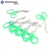 OdontoMed2011® 6 PCS PARAMEDIC UTILITY BANDAGE FIRST AID STAINLESS STEEL TRAUMA EMT EMS SHEARS SCISSORS 2.2m GREEN ODM