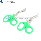 OdontoMed2011® 2 PCS PARAMEDIC UTILITY BANDAGE FIRST AID STAINLESS STEEL TRAUMA EMT EMS SHEARS SCISSORS 2.2m GREEN ODM
